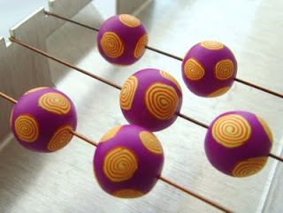 The process of creating simple inexpensive fimo beads